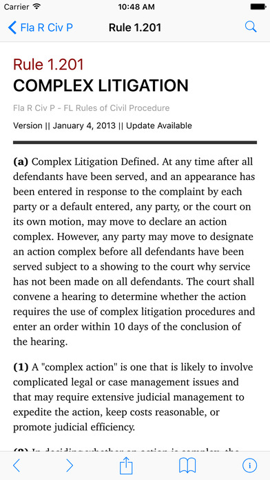 Florida Rules of Civil Procedure (FL Law) iPhone Screenshot 2