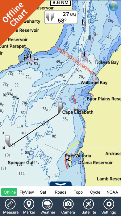 Marine: Adelaide - GPS Map Navigator iPhone Screenshot 3