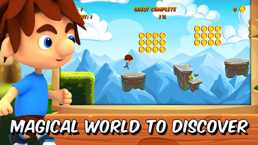 Hopper Steve - platformer games in adventure world Screenshot
