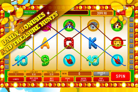 Big Puppy Dog Safari Slots: Amazing free casino wins and bonus prizes screenshot 3