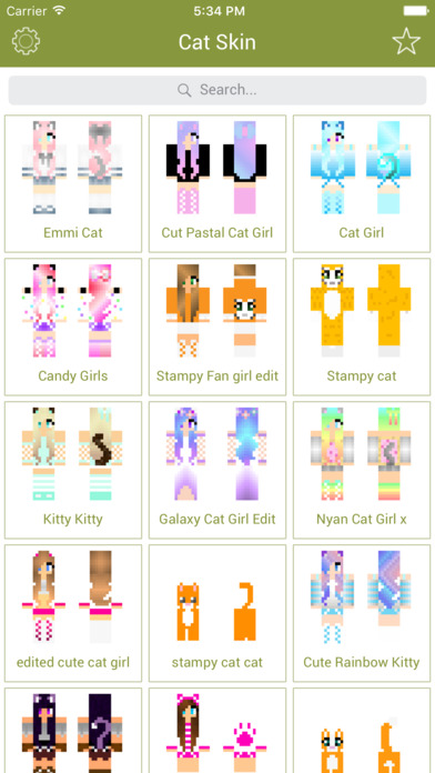 Screenshots of Cat Skins - New Skins for Minecraft PE & PC for iPhone