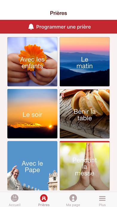 Prions en Église : une appli dédiée à la prière quotidienne iPhone Screenshot 3