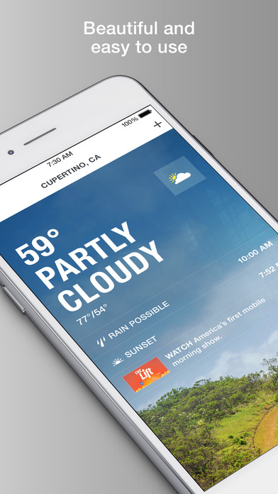 Screenshots of The Weather Channel for iPhone