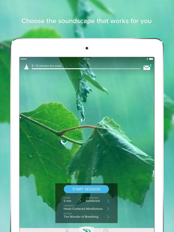 Screenshots of Muse: the brain sensing headband for iPad