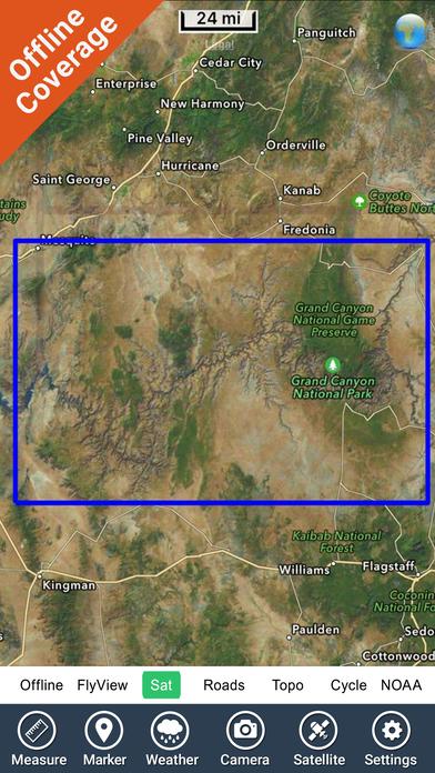 Grand Canyon National Park - GPS Map Navigator iPhone Screenshot 5