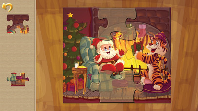 Happy Christmas Time with Santa Claus, Snowman, Elf, Reindeer Jigsaw Puzzles: Fun Educational Game for Kids and Toddlers screenshot 4