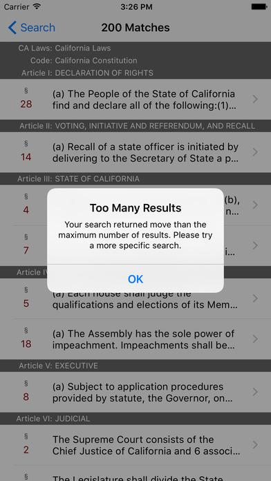 California Law (All 29 Codes) iPhone Screenshot 5