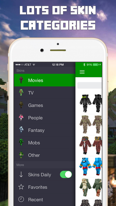 Screenshots of Skins for Minecraft Pocket Edition PE & PC for iPhone