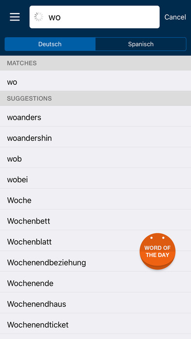 PONS Compact Dictionary Spanish <> German iPhone Screenshot 4