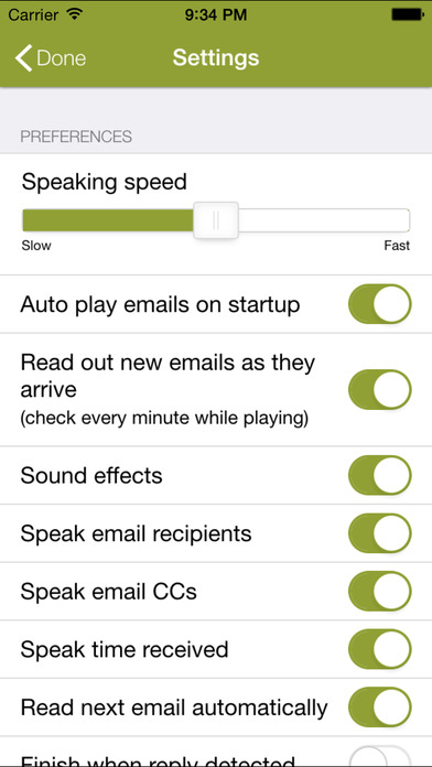Speaking Email - voice reader for email Apps free for iPhone/iPad screenshot