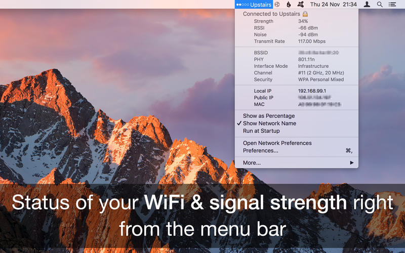 WiFi Wireless Signal Strength Explorer Screenshots