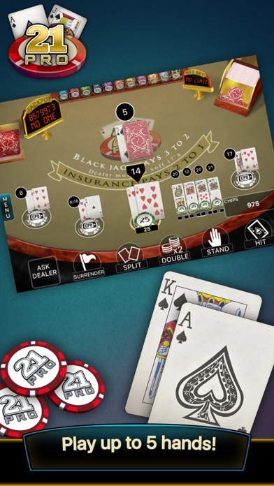 21 Pro: Blackjack Multi-Hand screenshot 2