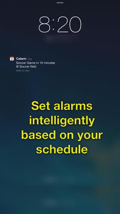 Screenshots for Calarm: Calendar Alarm Clock