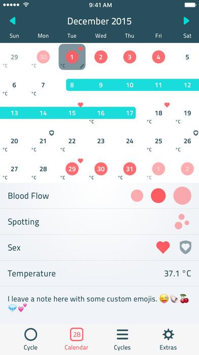 iWoman: Cycle, Period & Fertility Tracker Screenshots