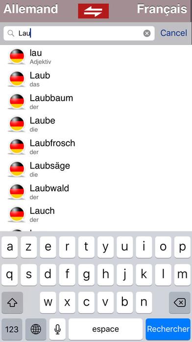 Dictionnaire Allemand-Français Larousse iPhone Screenshot 3