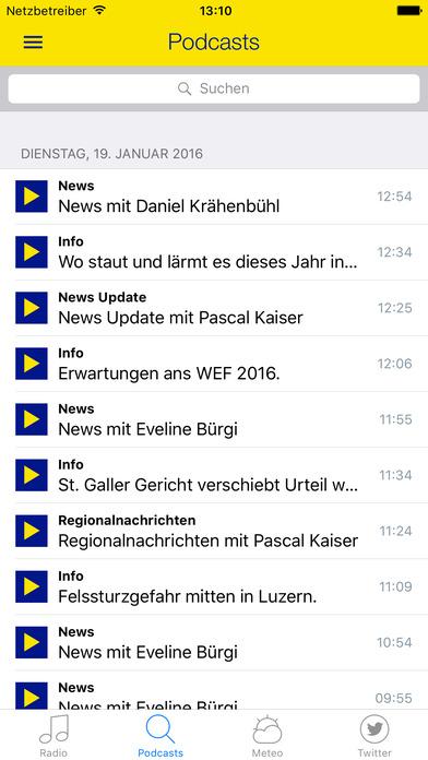 Radio Zürisee iPhone Screenshot 3