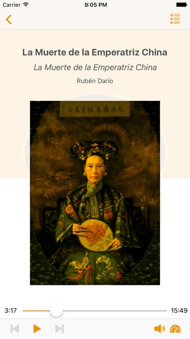 La Muerte de la Emperatriz China - Audiolibro iPhone Screenshot 1