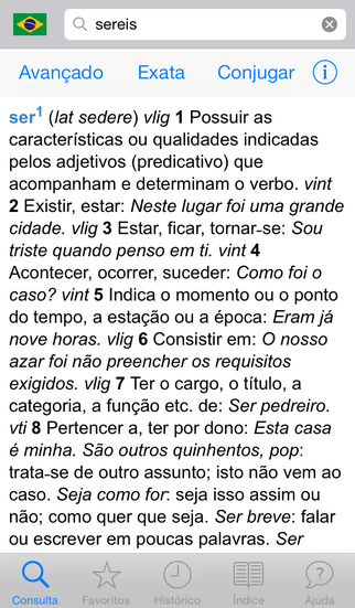 Michaelis Dicionário Conciso Língua Portuguesa iPhone Screenshot 1