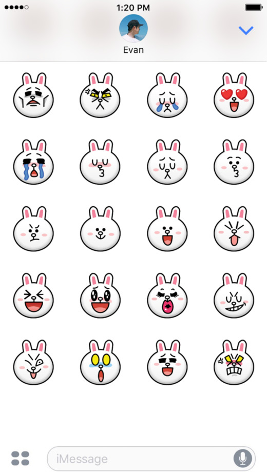 布朗熊和可妮兔: emoji贴纸
