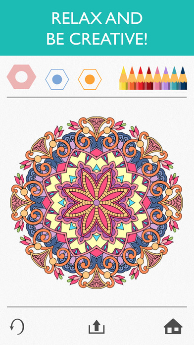 Screenshots of Colorfy: Coloring Book for Adults - Free for iPhone