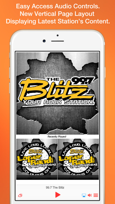 99.7 The Blitz – WRKZ Columbus Ohio iPhone Screenshot 1