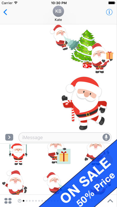 Bashful Santa Claus Animated Stickers screenshot 2