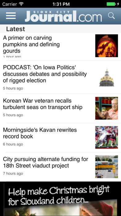 Sioux City Journal screenshot 1