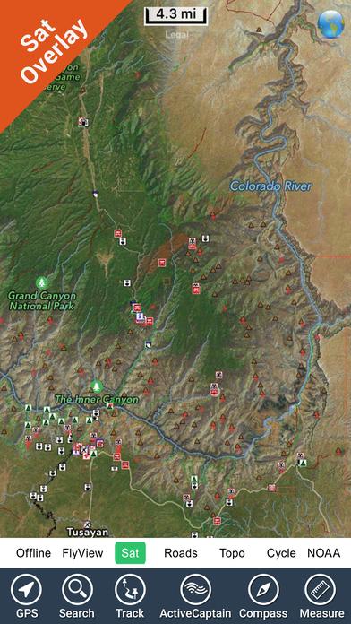 Grand Canyon National Park - GPS Map Navigator iPhone Screenshot 3