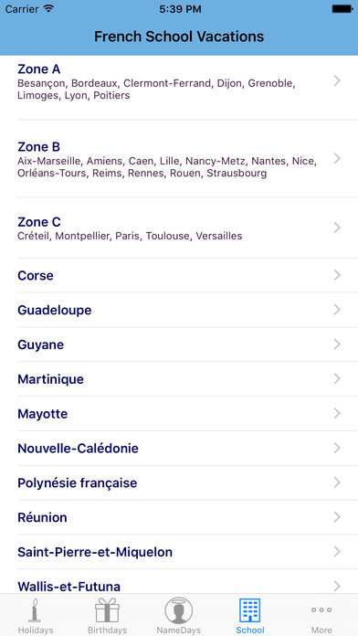 French Holidays iPhone Screenshot 3