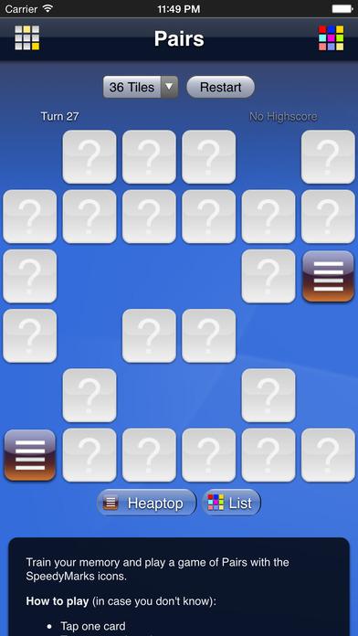 SpeedyMarks Pairs iPhone Screenshot 2