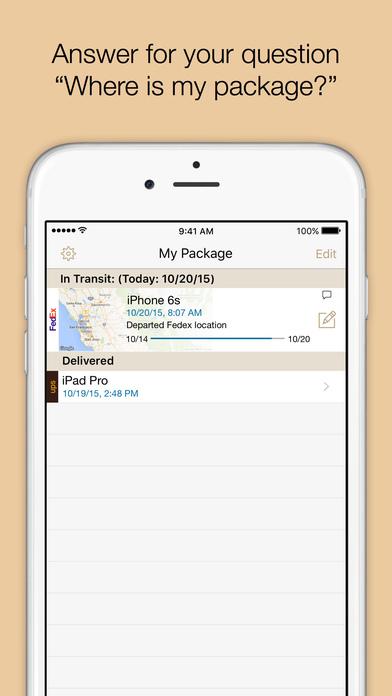 Where's My Package? iPhone Screenshot 2