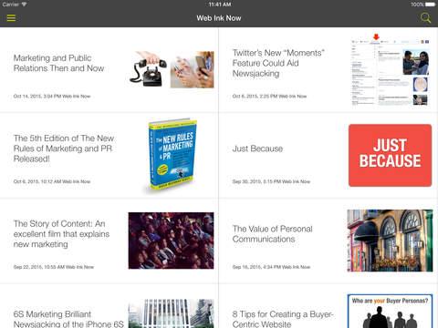 David Meerman Scott iPad Screenshot 1