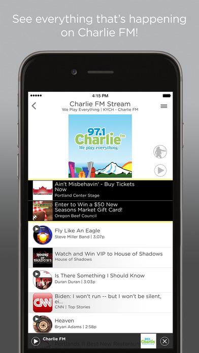 97.1 Charlie FM iPhone Screenshot 1