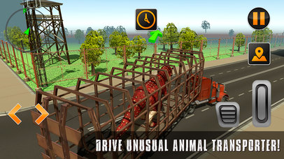 Crazy Jurassic Dinosaur Zoo Transport Full screenshot 1