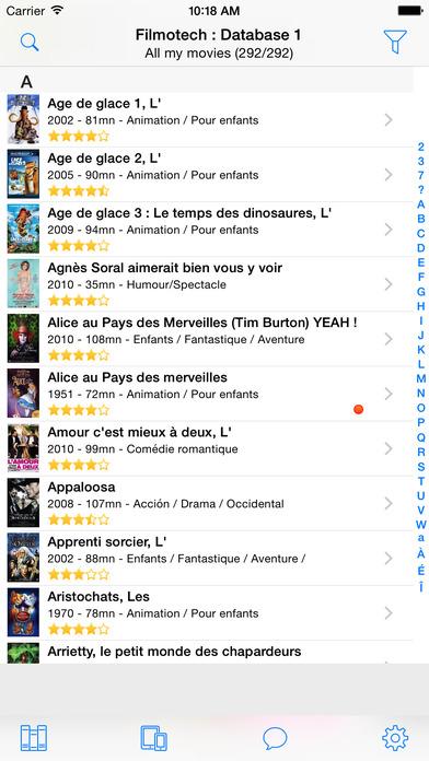 Filmotech iPhone Screenshot 1