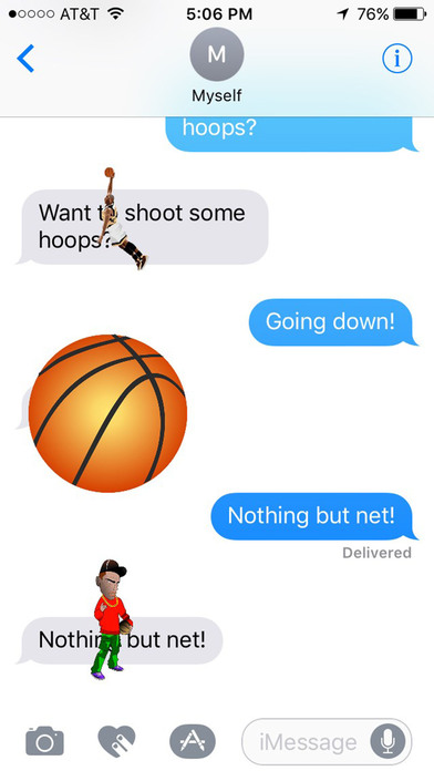 Basketball Stickers for iMessage Chat screenshot 1