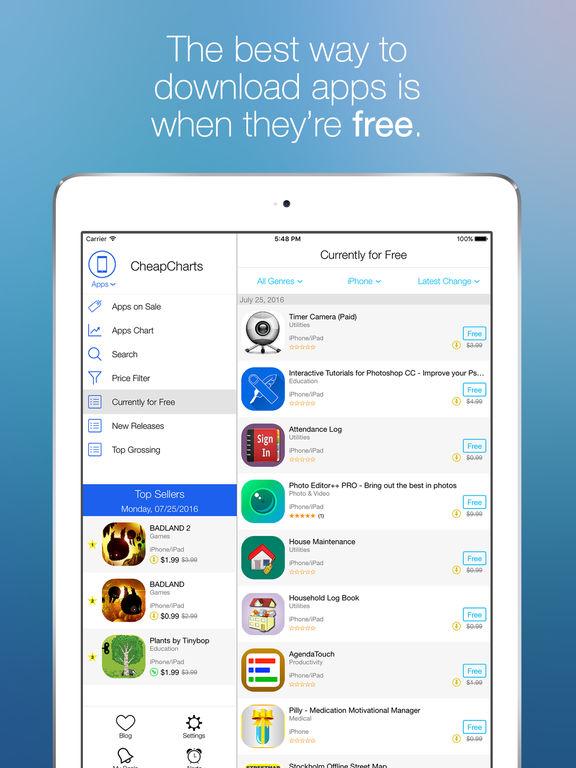 CheapCharts - iTunes Deals for Movies, TV, Apps... Screenshot