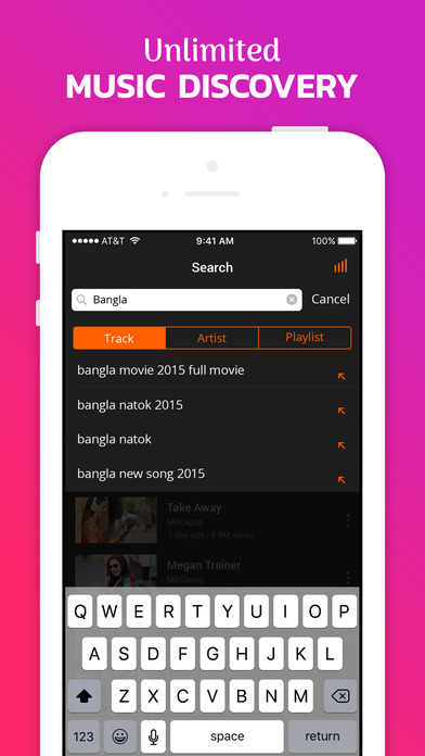 SnapVid - Music & Videos Player for YouTube Apps free for iPhone/iPad screenshot