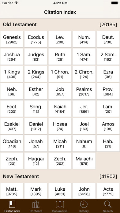 LDS Scripture Citation Index iPhone Screenshot 1