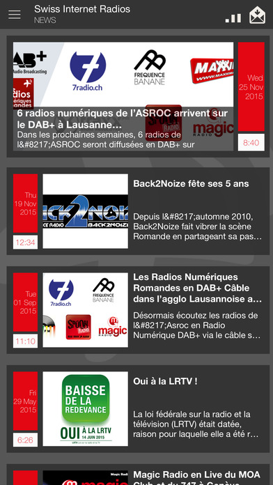 Swiss Internet Radios iPhone Screenshot 3