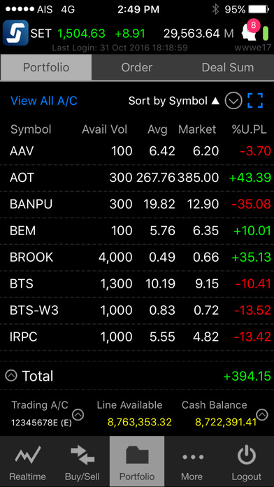 Settrade Streaming iPhone Screenshot 4