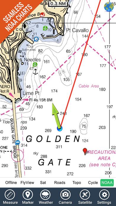 Marine: California - GPS Map Navigator iPhone Screenshot 1