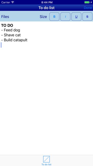 zWrite Screenshots
