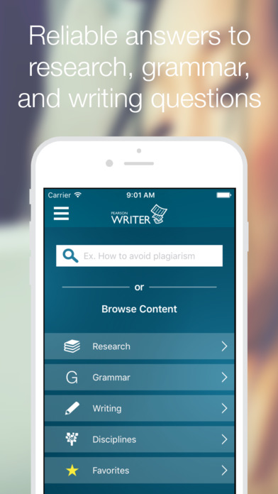 pearson writer app