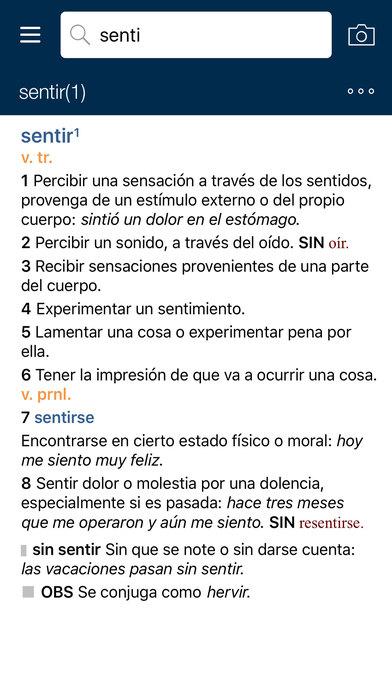 VOX Compact Spanish Dictionary and Thesaurus iPhone Screenshot 2