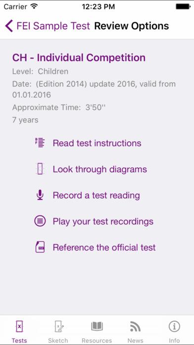 FEI EquiTests 1 - Dressage Tests Lite Application iPhone Screenshot 4