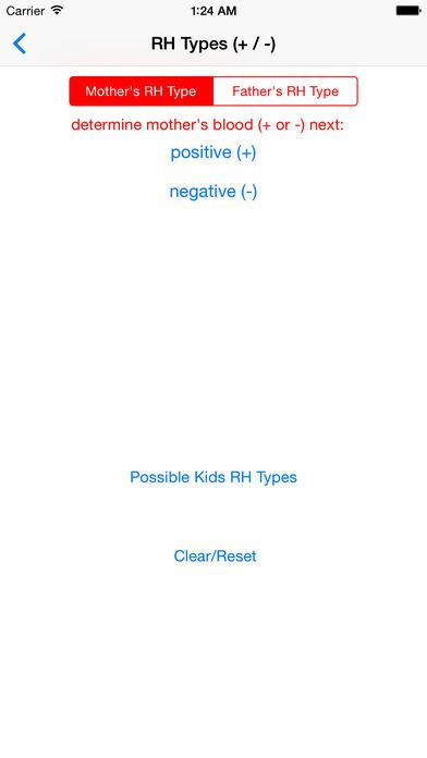 Blood Types of my Kids iPhone Screenshot 3