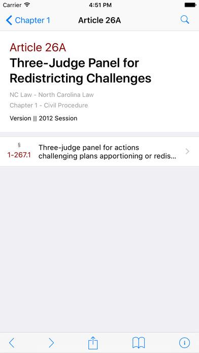 North Carolina Laws (Chapters 1 - 168A of NC General Statutes) iPhone Screenshot 2