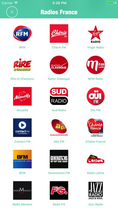 Radios France Pro (Radio French FM  Live Stream) Screenshots