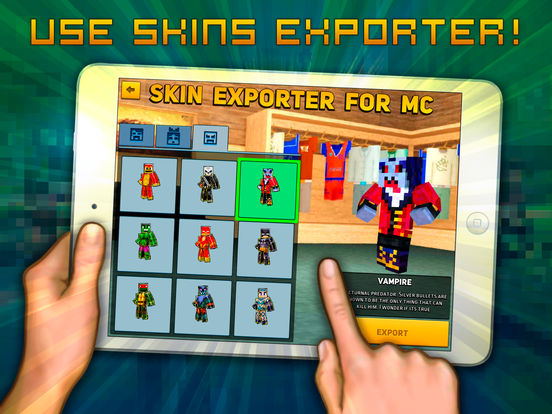 Block Сity Wars: game and skin export to minecraft Screenshots